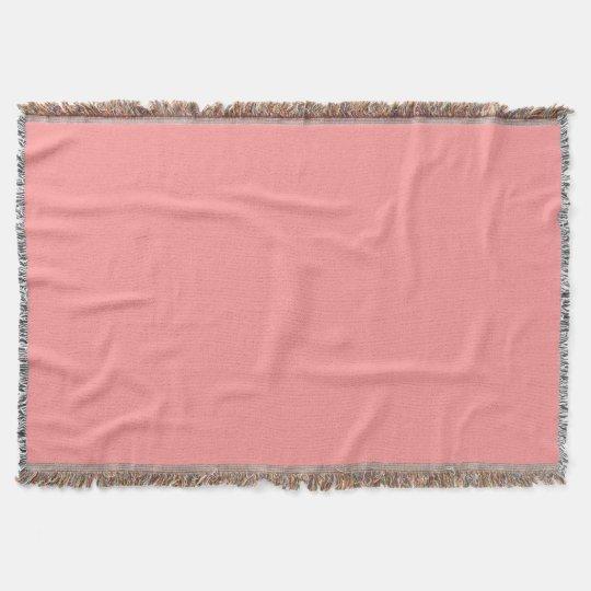 Light Salmon Pink Premium Coloured Throw