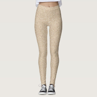Light Sand Faux Glitter Leggings