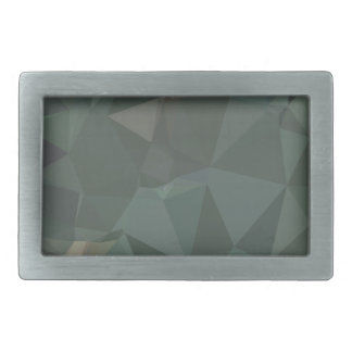 Light Sea Green Abstract Low Polygon Background Rectangular Belt Buckles