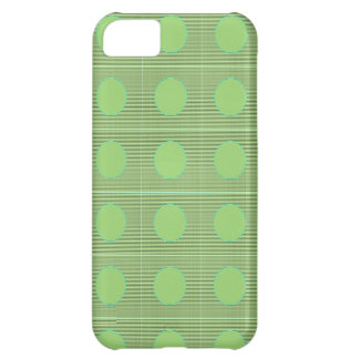 Light Shade Green Dot Theme Cover For iPhone 5C