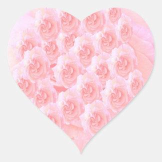 Light Shade Red Rose Bouquet Heart Sticker