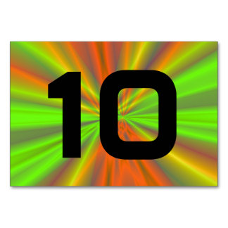 Light Show Fractal Art Numbered Table Cards