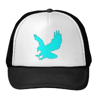 Light Sky Blue Eagle Image Trucker Hat