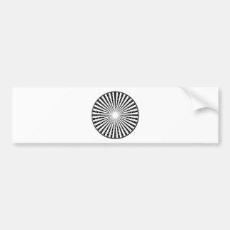 LIGHT Source - Black n White Sparkle Wheel Bumper Sticker