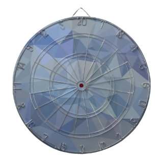 Light Steel Blue Abstract Low Polygon Background Dartboard
