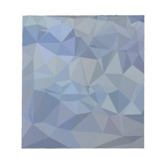 Light Steel Blue Abstract Low Polygon Background Notepad