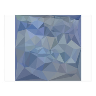 Light Steel Blue Abstract Low Polygon Background Postcard