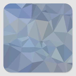 Light Steel Blue Abstract Low Polygon Background Square Sticker