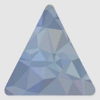 Light Steel Blue Abstract Low Polygon Background Triangle Sticker
