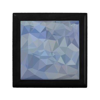 Light Steel Blue Abstract Low Polygon Background Trinket Box
