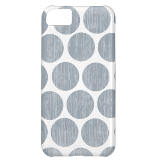 Light Steel Gray Distressed Polka Dot iPhone Case For iPhone 5C