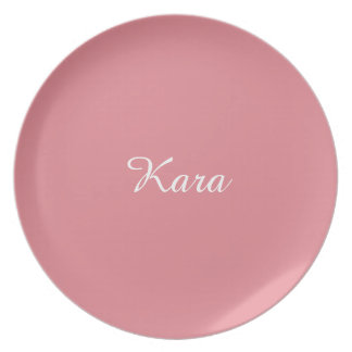 Light Strawberry Pink Customizable Party Plate
