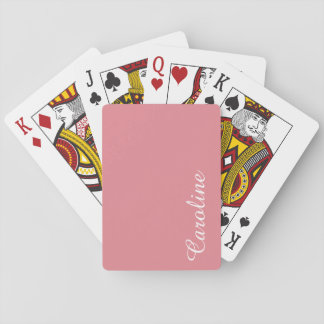 Light Strawberry Pink Customizable Poker Deck