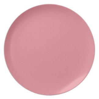 Light Strawberry Pink Plate