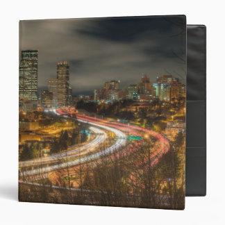 Light streaks from cars at night vinyl binder