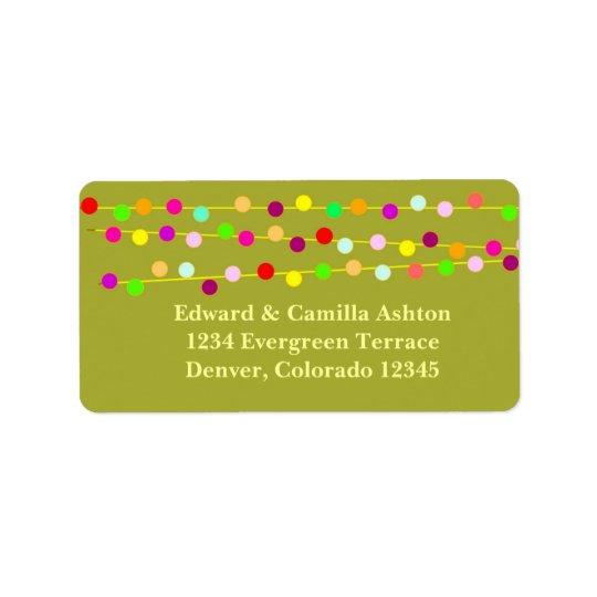 Light Strings Customisable Christmas Address Label
