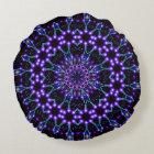 Light Structures Mandala Round Pillow