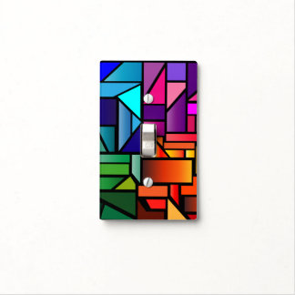 "Light Switch Cover with ""Stained Glass"" Design"