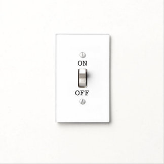 Light Switch Instructions with On/Off Labels