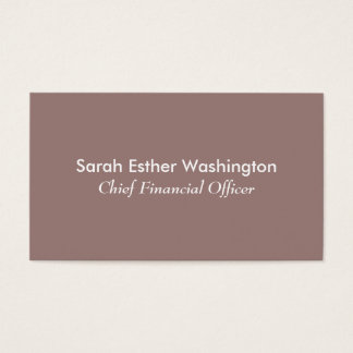 Light Taupe Colour Business Card
