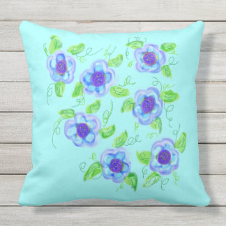 Light Teal And Purple Pillow