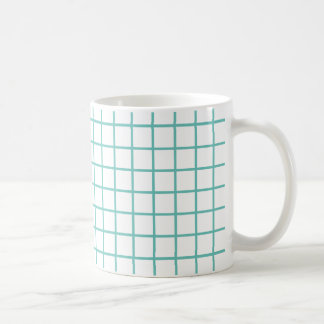 Light Teal Lattice Stripes Coffee Mug