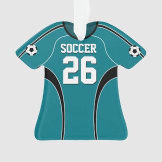 Light Teal Soccer Jersey Ornament