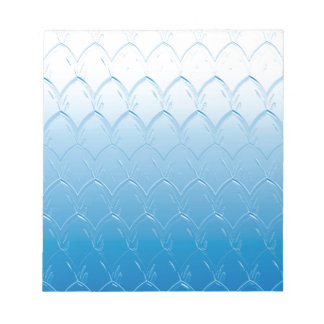 Light to Dark Blue Scales Notepad