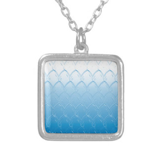 Light to Dark Blue Scales Silver Plated Necklace