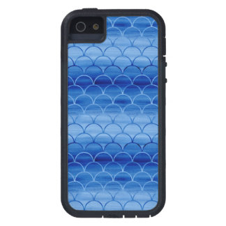 Light to Dark Blue Watercolor Scales iPhone 5 Case