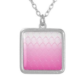 Light to Dark Pink Scales Silver Plated Necklace