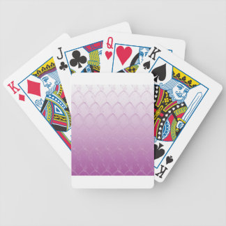 Light to Dark Purple Scales Bicycle Playing Cards