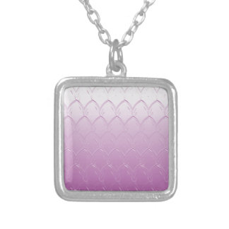 Light to Dark Purple Scales Silver Plated Necklace
