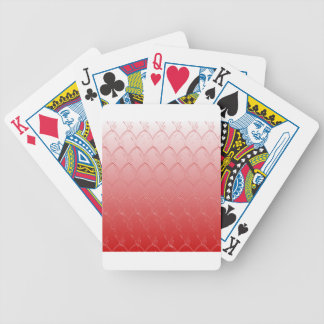 Light to Dark Red Scales Bicycle Playing Cards