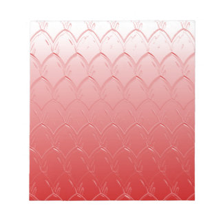 Light to Dark Red Scales Notepad
