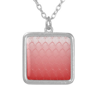 Light to Dark Red Scales Silver Plated Necklace