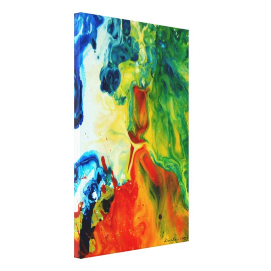 Light Torch 2 Abstract Landscape Canvas Print