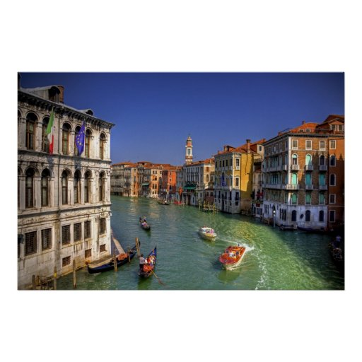 Light Traffic on the Grand Canal Poster