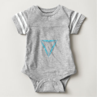 Light triangle baby bodysuit