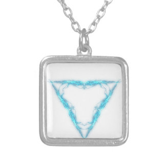 Light triangle silver plated necklace