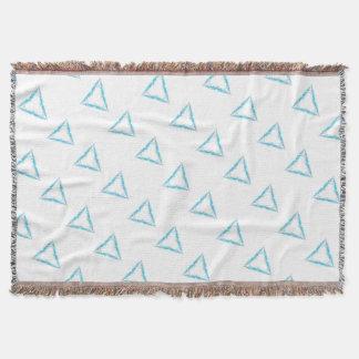Light triangle throw blanket