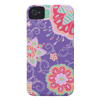 Light Tropical Floral iPhone 4 Case-Mate Case