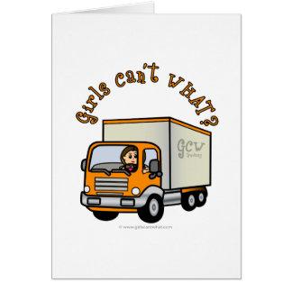 Light Trucker Girl Card