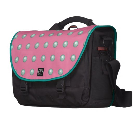 Light Turquoise Balls On Gerber Daisy Pink Pattern Computer Bag