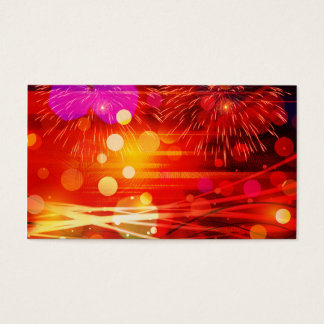 Light Up the Sky Light Rays and Fireworks Business Card