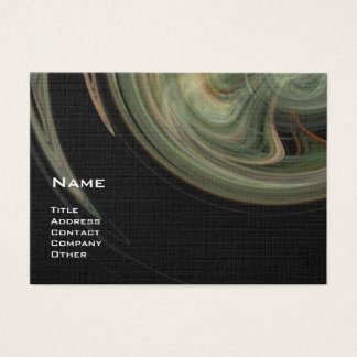 LIGHT VORTEX - orange grey white black yellow Business Card