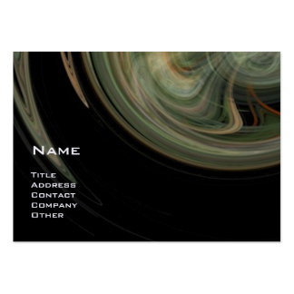 LIGHT VORTEX - orange grey white black yellow Large Business Card