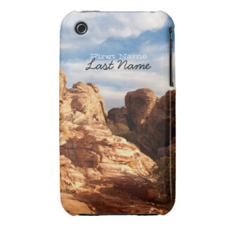 Light vs Shadow on Red Cliffs; Customizable Case-Mate iPhone 3 Cases