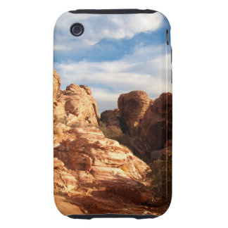 Light vs Shadow on Red Cliffs iPhone 3 Tough Cases