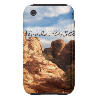 Light vs Shadow on Red Cliffs; Nevada Souvenir Tough iPhone 3 Covers